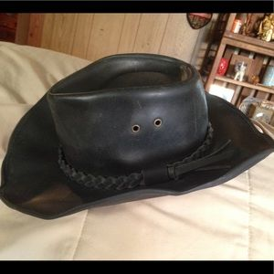 💥Sale!! Leather bendable hat!